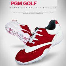 Exceed รองเท้ากอล์ฟ Pgm Lady Golf Shoes Xz050 White-Red Colour Size Eu:34 - Eu:38 สีขาวแถบแดง By Exceed.
