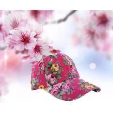 Exceed Unisex Floral Cap ( Pink ) หมวกแฟชั่น หมวกวัยรุ่น ลายดอกไม้  Mzh001 ( สีชมพู ).