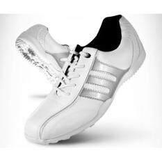 Exceed Unisex Golf Shoes White Silver Colour รองเท้ากอล์ฟ Pgm สีขาวแถบเงิน Xz001 Size Eu 32 Eu 44 ใหม่ล่าสุด
