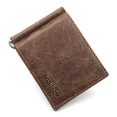 แบรนด์ที่มีชื่อเสียงผู้ชายคลิปเงินเหล้าองุ่นวัวหนังผู้ชายผลงานกระเป๋าสตางค์เปิด Clamp สำหรับบัตรเงินกระเป๋า By Pacento Official Store.