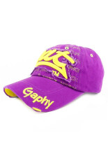 โปรโมชั่น Fancyqube Hot Unisex Men S Women S Outdoor Sports Baseball Golf Tennis Hiking Ball Cap Hat Purple Yellow Intl ถูก