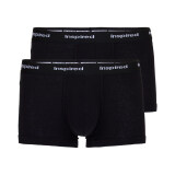 ซื้อ F F กางเกงในชาย ขาสั้นรัดรูปขอบโชว์ยาง สีดำ แพ็ค 2 ตัว ใน Thailand