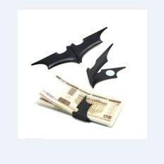 ราคา ฝาง 1ชิ้นมีประโยชน์สีดำ Batman หนีบกระเป๋าสตางค์บัตรแม่เหล็กพลาสติกพับโลหะ เป็นต้นฉบับ