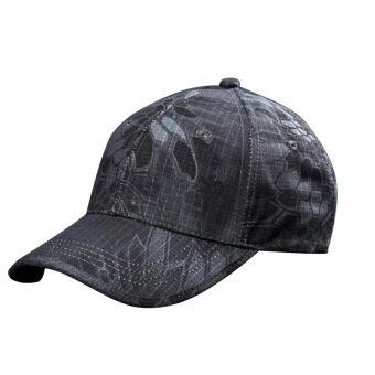 กีฬายิงปืนเป็นคนฝางพรางสวมหมวกทหารหมวกเบสบอลปรับได้ (ตำรวจสีดำ)