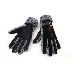 ขาย คนฝางแฟชั่นร้อนสีดำ สีน้ำตาลถุงมือขนสัตว์อุ่นหนาวเต็มหนัง Pu กันน้ำผู้ชายขับซับในถุงมือถุงมือ Unbranded Generic เป็นต้นฉบับ