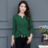 ราคา เสื้อยืดผู้หญิง ใส่แล้วผอม สไตล์แฟชั่นเกาหลี สีเขียวเข้ม สีเขียวเข้ม Unbranded Generic