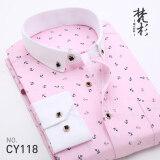 ซื้อ Fanshan เสื้อเกาหลีชายเสื้อสลิมพิมพ์ Cy118 ใหม่ล่าสุด
