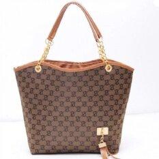 Fashion กระเป๋าแฟชั่น กระเป๋าถือสะพายหัวไหล่ รุ่น305 (สีน้ำตาล).