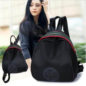 Fashion Bag backpack กระเป๋า กระเป๋าเป้สะพายหลังกระเป๋าเดินทาง(Black)