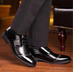 โปรโมชั่น แฟชั่นผู้ชายสไตล์อังกฤษธุรกิจชั้นหนังแท้รองเท้าทำงานสำนักงานรองเท้าหนังอย่างเป็นทางการรองเท้าลำลอง
