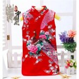 ส่วนลด Fashion Chinese Retro Kid Child G*rl S Baby Peacock Cheongsam Dress Qipao 1 8Y Clothes Red Size 6 Intl จีน
