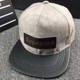 ราคา แฟชั่นผ้าฝ้าย Unisex ตัวอักษรสีทึบ Supreme หมวกเบสบอลบุรุษว่างฮิปฮอปแบน Snapback หมวก จีน