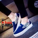 ซื้อ Fashion Diva รองเท้าผ้าใบลำลอง แต่งลายดอกไม้หวานๆ ออนไลน์ กรุงเทพมหานคร