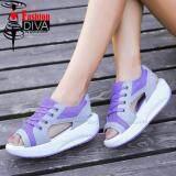 ซื้อ ใหม่ Fashion Diva รองเท้าลำลองรัดส้นกึ่งสปอร์ตสไตล์เกาหลี ใหม่ล่าสุด