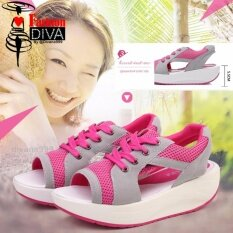 ราคา ใหม่ Fashion Diva รองเท้าลำลองรัดส้นกึ่งสปอร์ตสไตล์เกาหลี ออนไลน์