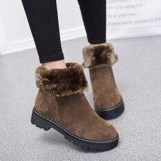แฟชั่นพับอบอุ่นข้อเท้าฤดูหนาวหิมะบู๊ทส์สำหรับผู้หญิง - นานาชาติ.
