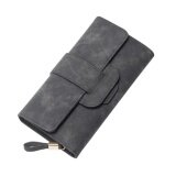 ขาย Fashion Korea Style Lady Women Clutch Long Purse Leather Wallet Card Holder Bags Wqb008 Grey Intl ใน จีน