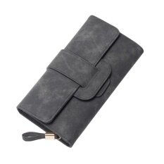 ทบทวน Fashion Korea Style Lady Women Clutch Long Purse Leather Wallet Card Holder Bags Wqb008 Grey Intl Unbranded Generic