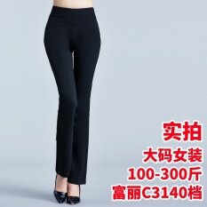 Fashion Large Size High Broad Elastic Bell Bottoms Intl จีน