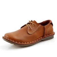 ขาย แฟชั่นรองเท้าหนังแบน สีน้ำตาล ถูก จีน