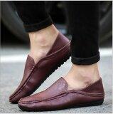 แฟชั่นรองเท้าหนังผู้ชายขับรถรองเท้าหนังส้นสูงรองเท้าสบายๆอังกฤษ นานาชาติ จีน