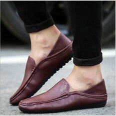 ซื้อ แฟชั่นรองเท้าหนังผู้ชายขับรถรองเท้าหนังส้นสูงรองเท้าสบายๆอังกฤษ นานาชาติ ออนไลน์ ถูก