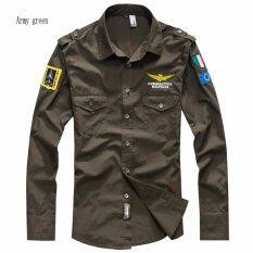 ราคา Fashion Men Air Force Flight Suit Casual Style Long Sleeve Casual Shirts Intl Angelcitymall ออนไลน์
