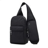 ราคา Fashion Men Messenger Bags Breathable Cross Body Bags Charging Line Bags Black Intl