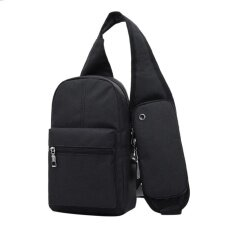 Fashion Men Messenger Bags Breathable Cross Body Bags Charging Line Bags Black Intl ใน จีน