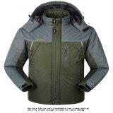ราคา Fashion Men Stitching Winter Warm Casual Hedging Jacket Hooded Sweater Travel Coat Tops C533 Color Army Green Intl เป็นต้นฉบับ Unbranded Generic
