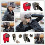 Fashion Men S Brown Aviator Bomber Faux Fur Winter Ski Trooper Trapper Ear Flap Hat Cap เป็นต้นฉบับ