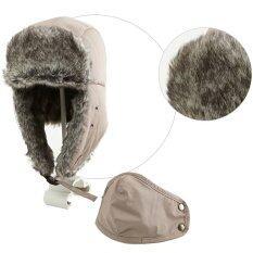 Fashion Men S Brown Aviator Bomber Faux Fur Winter Ski Trooper Trapper Ear Flap Hat Cap ฮ่องกง