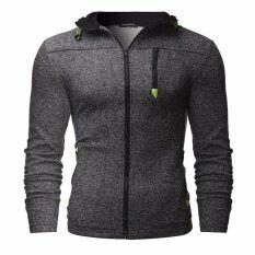 ราคา Fashion Men S Winter Hoodie Sweater Jacket Warm Hooded Zipper Coat Black Intl ใหม่ ถูก