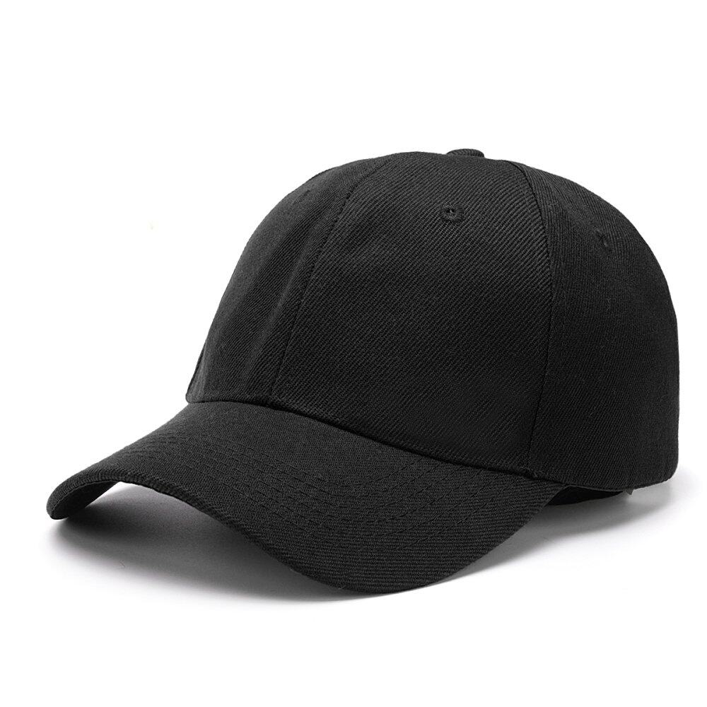 Fashion Men's Women's Bboy Hip Hop Cap Adjustable Baseball Snapback Unisex Hat Black – intl