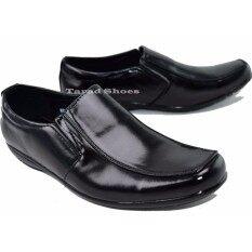 ขาย ซื้อ ออนไลน์ รองเท้าคัทชูชาย Fashion รุ่น Mj268 สีดำ