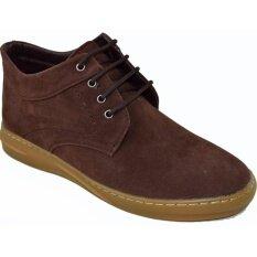 ราคา Fashion รองเท้าหนังผู้ชายหุ้มข้อ รุ่น Mm931 Brown Fashion ใหม่