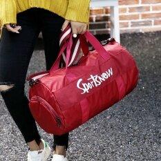 แฟชั่นกันน้ำ Oxford Men กระเป๋าโททสำหรับออกกำลังกายรองเท้า Space ผู้หญิงกระเป๋าออกกำลังกายกระเป๋ากีฬา (สีแดง) - Intl.