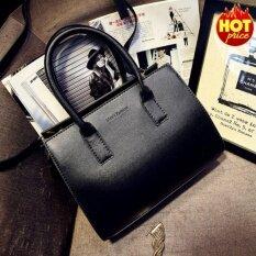 ซื้อ Fashion กระเป๋าถือ พร้อมสายสะพาย กระเป๋าสะพาย แบบมีหูหิ้ว รุ่น No 02226 สีดำ ถูก กรุงเทพมหานคร