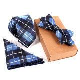 Fashion Polyester Silk Neckties Handkerchief Bow Tie Set Skinny Ties Pocket Square Towel Bowtie Wedding For Men ใหม่ล่าสุด