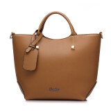 ขาย ซื้อ Fashion Pu Leather Tote Bag Vintage Women Shoulder Bag Khaki Intl