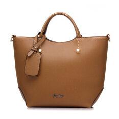ขาย Fashion Pu Leather Tote Bag Vintage Women Shoulder Bag Khaki Intl ราคาถูกที่สุด