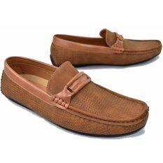 ราคา Fashion รองเท้าหนังแบบสวมผู้ชาย Fashion รุ่น Mm923 Coffee ใหม่