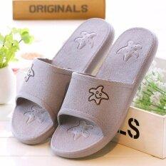 ราคา Fashion Sandals Star Shoes รุ่นT22 รองเท้าแตะแฟชั่นเกาหลีสำหรับผู้หญิง สีเทาอ่อน)
