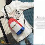 ราคา Fashion กระเป๋าคาดอก Size 17X8X35Cm Travel Shoulder Bag มี 3 ช่อง รุ่น No 02230 Blue Red ใหม่