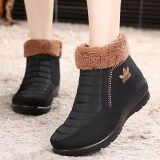 ราคา Fashion Stitching Soft Sole Fur Lining Casual Ankle Women Winter Warm Boots Intl Unbranded Generic