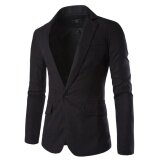 ขาย Fashion Stylish Men S Blazer Coat Jacket Casual Slim Fit One Button Suit Black Intl