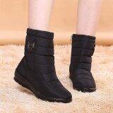 ขาย ซื้อ Fashion Us Size 5 11 Winter Women Down Cloth Waterproof Snow Boots Keep Warm Flats Intl Thailand