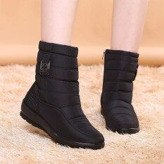 ความคิดเห็น Fashion Us Size 5 11 Winter Women Down Cloth Waterproof Snow Boots Keep Warm Flats Intl
