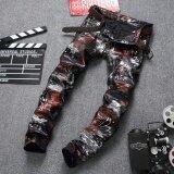 ซื้อ Fashion Men S Ripped Jeans Pants Slim Fit Skinny Denim Jeans Hip Hop Streetwear Destroyed Male Jean Trousers Multicolor Intl Qeho ถูก