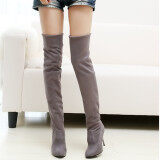 ราคา Fashion Winter Women Over The Knee Long Thigh Stretch High Heels Platform Boots Intl ใหม่